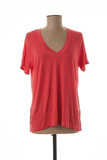 T-shirt manches courtes rouge AN' GE pour femme