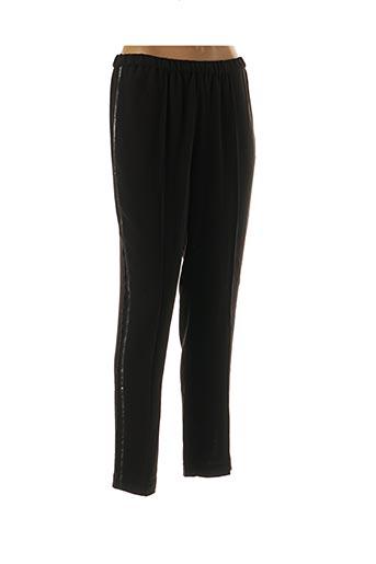 Pantalon casual noir AN' GE pour femme