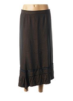 Jupe mi-longue marron TELMAIL pour femme
