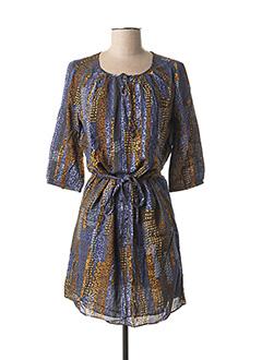 Robe mi-longue bleu DDP pour femme