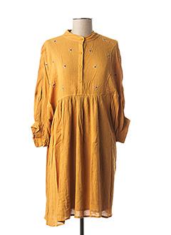 Robe mi-longue jaune DDP pour femme