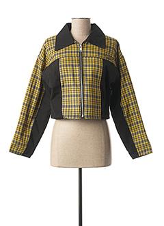 Veste casual jaune DDP pour femme