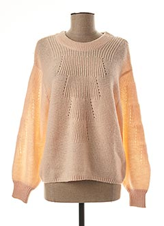Pull col rond rose DDP pour femme