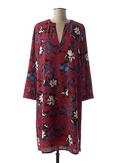 Robe mi-longue rouge EQUATION pour femme