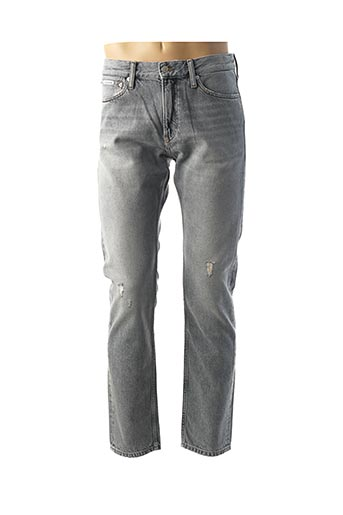 Jeans coupe slim gris CALVIN KLEIN pour homme