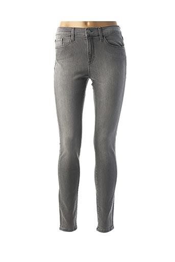 Jeans skinny gris CALVIN KLEIN pour femme