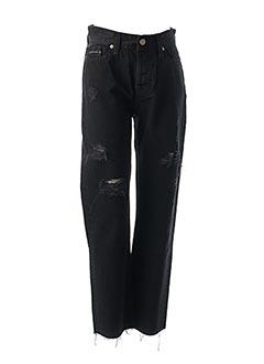 Jeans coupe droite noir CALVIN KLEIN pour femme