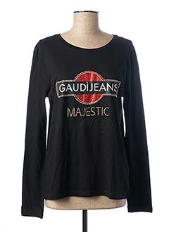 T-shirt manches longues noir GAUDI pour femme