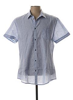 Chemise manches courtes bleu GAUDI pour homme