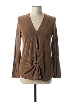 Top marron PAKO LITTO pour femme