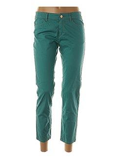 Pantalon 7/8 vert ANINOTO pour femme