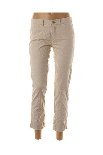 Pantalon 7/8 beige ANINOTO pour femme