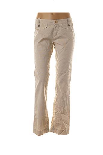 Pantalon casual beige ANINOTO pour femme