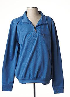 Sweat-shirt bleu HAJO pour homme
