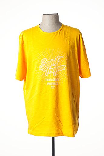 T-shirt manches courtes orange HAJO pour homme