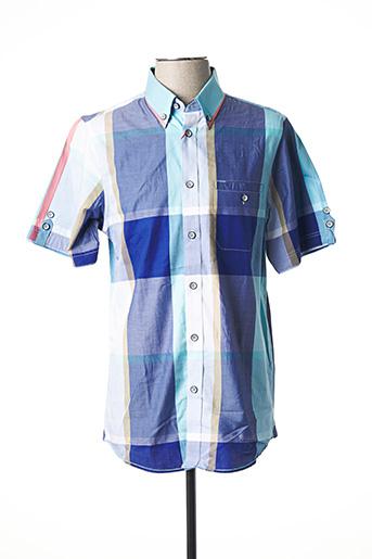 Chemise manches courtes bleu FELLOWS pour homme