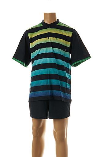 Pyjashort noir HAJO pour homme