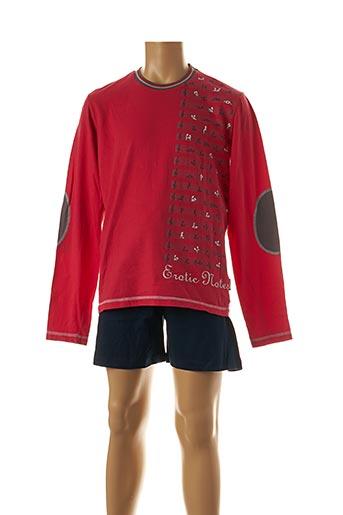 Pyjashort rouge SOY pour homme
