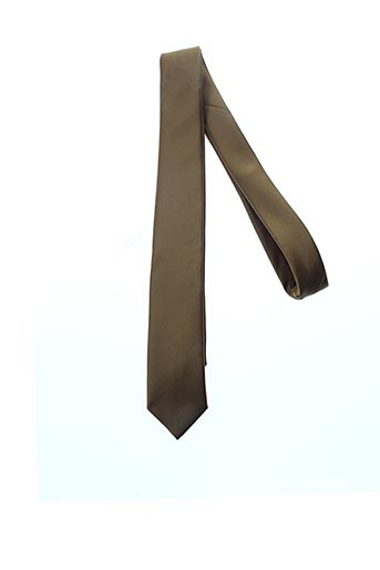 Cravate marron CLAUDE GABRIEL pour homme