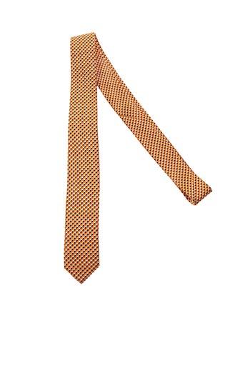 Cravate orange BENOIT FLORENT pour homme