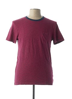 T-shirt manches courtes rouge EDEN PARK pour homme