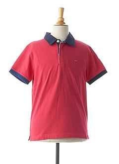 Polo manches courtes rouge EDEN PARK pour garçon