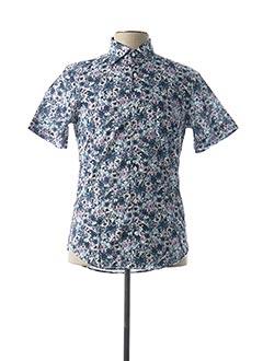 Chemise manches courtes bleu EDEN PARK pour homme