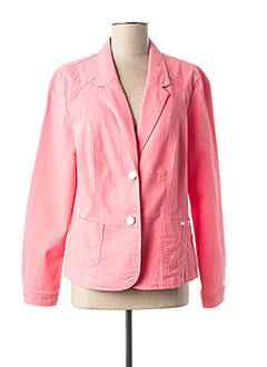 Veste casual rose BRANDTEX pour femme