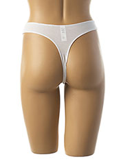 String/Tanga blanc BARBARA pour femme seconde vue