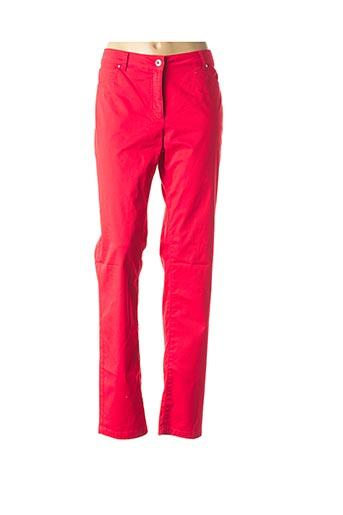 Pantalon casual rouge BRANDTEX pour femme