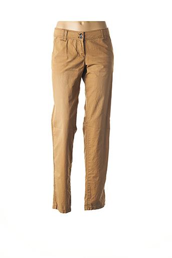 Pantalon casual beige TOM TAILOR pour femme
