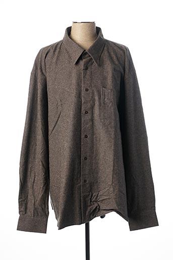 Chemise manches longues gris AVANEZ pour homme