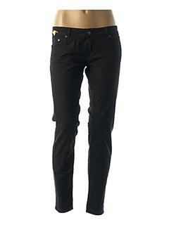 Jeans coupe slim noir MELTIN'POT pour femme