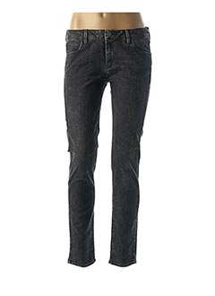 Jeans coupe slim noir REIKO pour femme