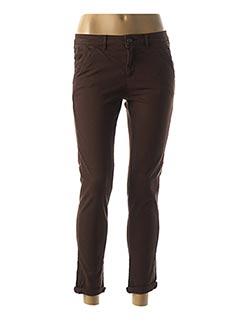 Pantalon 7/8 marron REIKO pour femme