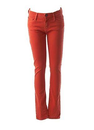 Jeans coupe slim orange ACQUAVERDE pour femme