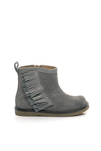 Bottines/Boots gris SHOO POM pour fille