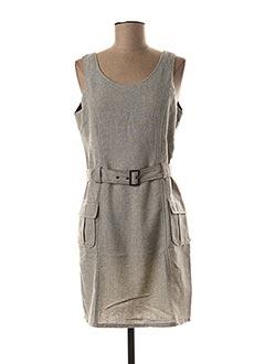 Robe courte gris LOLA ESPELETA pour femme