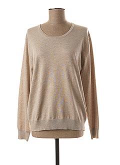 Sweat-shirt beige BRANDTEX pour femme