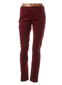 Pantalon casual rouge PIERRE CARDIN pour femme