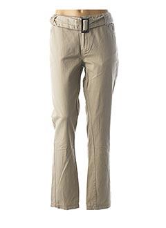 Pantalon casual beige LOLA ESPELETA pour femme