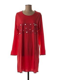 Chemise de nuit rouge ROSE POMME pour femme