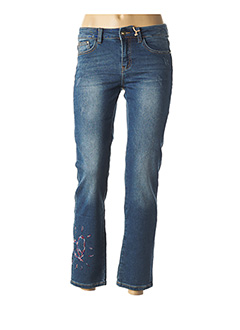 Jeans skinny bleu DESIGUAL pour femme