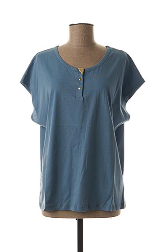 T-shirt manches courtes bleu BLUNE pour femme