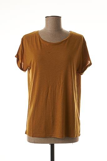 T-shirt manches courtes jaune EMILE ET IDA pour femme