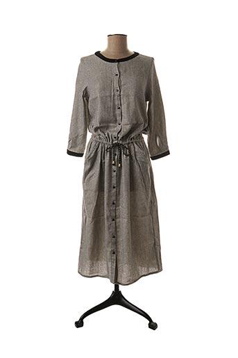 Robe mi-longue gris BLUNE pour femme