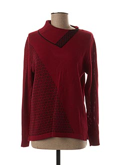 Pull col rond rouge C.MISSARO pour femme