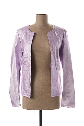 Veste simili cuir violet C.MISSARO pour femme