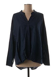Tunique manches longues bleu QUATTRO pour femme