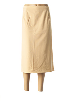 Jupe mi-longue beige WEINBERG pour femme